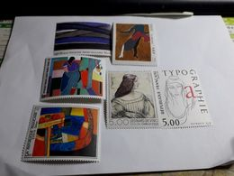 Timbres France    2407 2413 2414 2446 2448 Tableaux 1986 Neufs - France