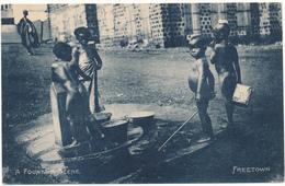 LIBERIA, FREETOWN - A Fountain Scene - Liberia