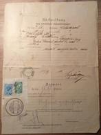 Österreich 1920 Postformular RÜCKMELDUNG UNBESTELLBARE FAHRPOSTSENDUNGEN (UPU LANGENEGG VORARLBERG BRIEF COVER FELDKIRCH - 1918-1945 1. Republik