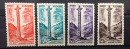 France, Francia, , Andorra Francesa, Français, 1955 - 1958, Paysages Et Monuments (**) - Andorre Français