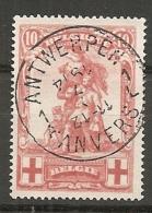 BELG - Yv. N° 127  (o)  10c  Croix-Rouge  Cote  4 Euro TBE - 1914-1915 Red Cross