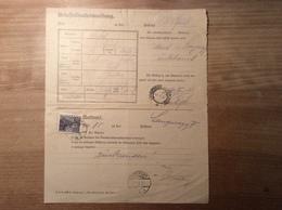 Österreich 1932 Postformular UNBESTELLBARKEITSMELDUNG (UPU LANGENEGG VORARLBERG BRIEF COVER WOLFURT - 1918-1945 1. Republik