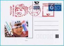 Czech Republic (07-04) World Championship Skiing 2007 Winner Neumannova  - Postcard - Ski