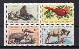 U.S.A. 1972 - FAUNA - ANIMALI PROTETTI  - SERIE COMPLETA - MNH ** - Ongebruikt