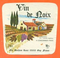 étiquette De Vin De Noix Ets Mathias Roux à Gap - 70 Cl - Sonstige