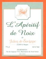 étiquette De Vin L'aperitif De Noix Julien De Savignac à Le Bugue - 75 Cl - Sonstige