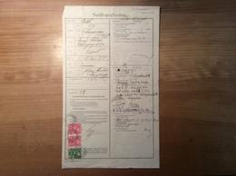 Österreich 1916 Postformular NACHFRAGESCHREIBEN (UPU Feldpost TRENTINO LANGENEGG VORARLBERG BRIEF CALLIANO FELDPOST - Briefe U. Dokumente