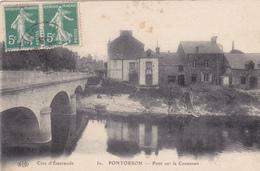 50. PONTORSON. CPA. PONT SUR LE COUESNON. ANNÉE 1918 - Pontorson