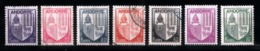 Andorre Français 1944 - 1946 : Timbres Yvert & Tellier N° 93 - 94 - 95 - 96 - 97 - 98 Et 99. - Andorre Français
