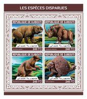 DJIBOUTI 2018 - Extinct Rhinoceros. Official Issue - Rhinozerosse