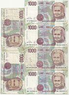 Italie 1000 Lires Lot De 6 Billets - [ 2] 1946-… : Républic
