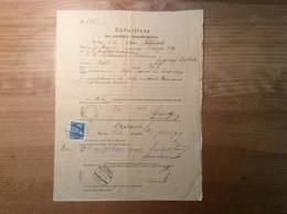 Österreich 1912 Postformular RÜCKMELDUNG UNBESTELLBARE FAHRPOSTSENDUNGEN (UPU LANGENEGG VORARLBERG BRIEF COVER FELDKIRCH - 1850-1918 Empire
