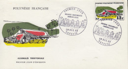 Enveloppe  FDC   1er Jour  POLYNESIE   Assemblée  Territoriale    1969 - FDC