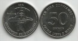 Nicaragua 50  Centavos 1983. UNC Sandino - Nicaragua