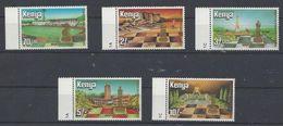 Chess, Kenya 1984, Mi 313-317, MNH, 60th Anniversay Of FIDE - Echecs
