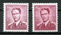 BE   1072 - 1072a   XX   ---   Les Deux Nuances  --  Bon Centrage - 1953-1972 Glasses