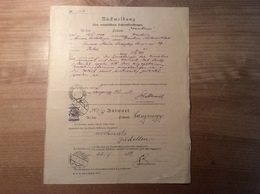 Österreich 1929 Postformular RÜCKMELDUNG UNBESTELLBARE FAHRPOST (UPU DORNBIRN LANGENEGG VORARLBERG BRIEF COVER FELDKIRCH - 1918-1945 1. Republik