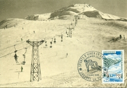 CM-Carte Maximum Card #1966-Andorre-Andorra Sport D´Hiver,Winter Sport # Télésiège, Chairlift ,Sessellift # Andorr - Maximumkarten (MC)