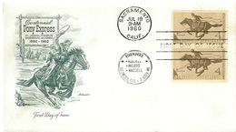 STATI UNITI - FDC - ANNO 1960 - CENTENNIAL PONY EXPRESS - SACRAM - 1951-1960