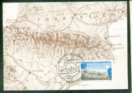 CM-Carte Maximum Card #1984-Andorre-Andorra # Europa-Traité Des Pyrenées ,Treball Dels  Piringeus ,Carte,Landkarte,map - Maximumkarten (MC)