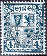IRELAND 1922 Arms Of Ireland - 4d. - Blue MH - 1922-37 Stato Libero D'Irlanda