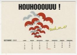 {74144} CP Publicité Babybel , 360° De Bonheur , Houhooouuu ! ; Calendrier Octobre 2002 - Publicité