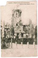Leysele, Leisele, L'Eglise Le Jour De La Destruction, Cliché René Matton Proven (pk44172) - Alveringem