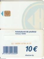FINLAND - Elisa Telecard 10 Euro(for Use Only In Prison), CN : ELI 000300, Tirage 25000, 04/03, Used - Finland