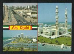 United Arab Emirates UAE Abu Dhabi Picture Postcard 3 Scene Mosque Abu Dhabi View Card U A E - Dubai