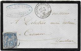 Vendée  - Cachet  Type 18  LAURIS S DURANCE - Postmark Collection (Covers)