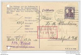 17 - 58 - Carte Envoyée De  Halle 19209 - Attention Deux Petits Trous à Gauche - Brieven En Documenten