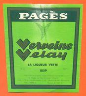 étiquette De Liqueur Verte Verveine Velay Pagès à Le Puy En Velay - 75 Cl - Other