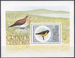 Grenada Grenadinen Grenadines 1976 Tiere Fauna Animals Vögel Birds Oiseaux Pajaro Uccelli Organist, Bl. 17 ** - Grenada (1974-...)