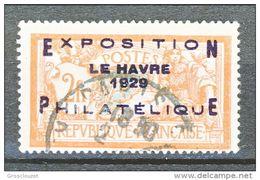 Francia 1929 Expo Phil. Y&T N. 257A FR 2 + 5 Arancio E Verde-azzurro Usato € 875 SOVRASTAMPA NON ORIGINALE - Usados