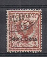 ERITREA 1903  EFFIGE V.EMANUELE  III  SASS. 20USATO VF - Eritrea