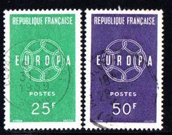 N° 1218 / 1219 - 1959 - Used Stamps