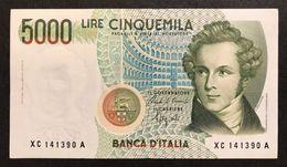 5000 LIRE BELLINI SERIE SOSTITUTIVA XC 1992 BB/SPL Raro NON TRATTATO LOTTO 1577 - [ 2] 1946-… : Républic