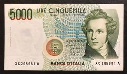 5000 LIRE BELLINI SERIE SOSTITUTIVA XC 1992 BB/SPL Raro NON TRATTATO LOTTO 1594 - [ 2] 1946-… : Républic