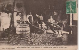 70 - FOUGEROLLES - TONNELERIE PAUL CAUSERET - BEAU PLAN FABRICATION DE TONNEAUX - France