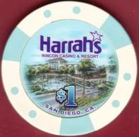 $1 Casino Chip. Harrahs, San Diego, CA. B67. - Casino