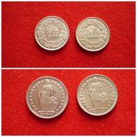 Suisse 1/2 Franc 1948 B; Argent Lot De 2 Pièces Silver - Suiza