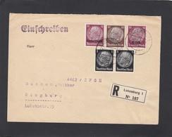 EINGESCHRIEBENER BRIEF MIT MISCHFRANKATUR NACH SIEGBURG. - 1940-1944 German Occupation