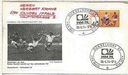 ALEMANIA 1974 FDC DÜSSELDORF COPA MUNDIAL DE FUTBOL FOOTBALL WORLD CUP - Copa Mundial