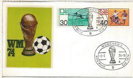 ALEMANIA 1974 FDC MUNCHEN COPA MUNDIAL DE FUTBOL FOOTBALL WORLD CUP - Coppa Del Mondo