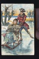 SERIE DES SAINSONS JANVIER CP RELIEF - Fairy Tales, Popular Stories & Legends