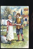 SERIE DES SAINSONS MARS CP RELIEF - Fairy Tales, Popular Stories & Legends