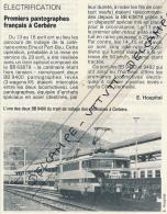 1982 : Document, CERBERE (Pyrénées-Orientales), Gare, Premiers Pantographes Français, Caténaires, Locomotive BB 9400... - Zonder Classificatie