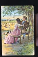 SERIE DES SAINSONS AOUT  CP RELIEF - Fairy Tales, Popular Stories & Legends