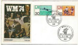 ALEMANIA 1974 FDC BONN COPA MUNDIAL DE FUTBOL FOOTBALL WORLD CUP - Copa Mundial