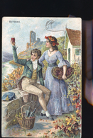 SERIE DES SAINSONS OCTOBRE  CP RELIEF - Fairy Tales, Popular Stories & Legends